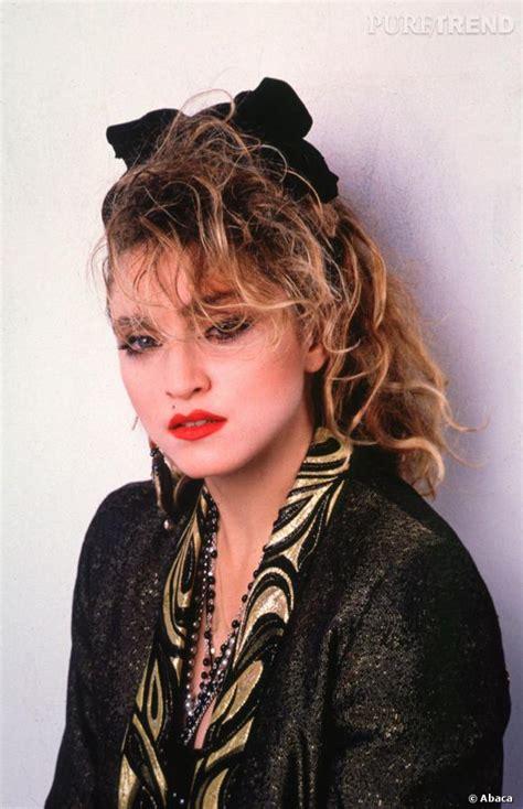 Madonna  sa coupe decoloree de 1985 une coiffure culte - Puretrend