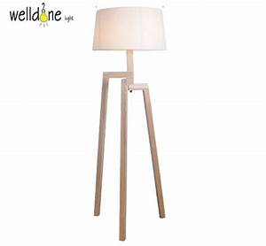 modern minimalist 3 leg wood tripod floor lamps with With 4 legged wooden floor lamp