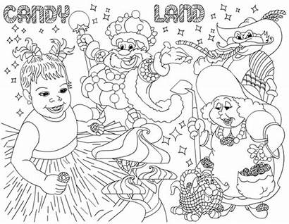 Candy Land Sweet Coloring Birthday Pages Party