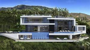 Beautiful, And, Luxury, Futuristic, Looking, Home, Concept