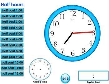 telling time  interactive clock digital  analog tpt