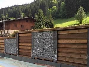 Cloture Bois Design : cloture gabion et bois homeezy ~ Melissatoandfro.com Idées de Décoration