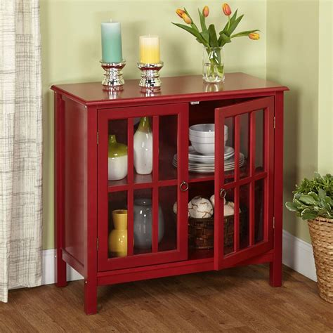 modern storage cabinet red sideboard buffet cupboard