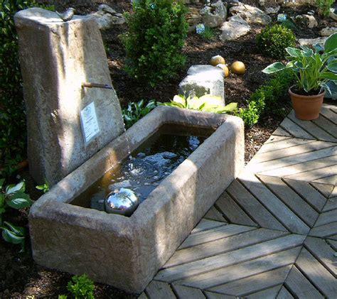 brunnen spülen mit hochdruckreiniger felsdekor wasser becken viehtr 228 nke 07529 sand trog jardin