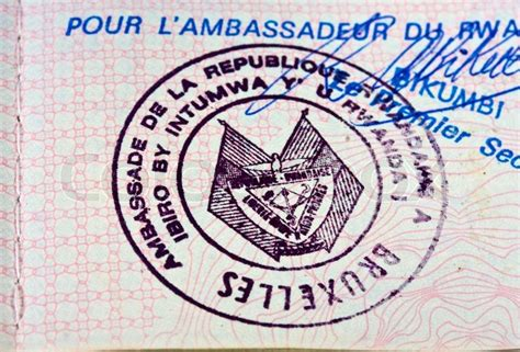 Old Passport Stamp In Belgian Passport