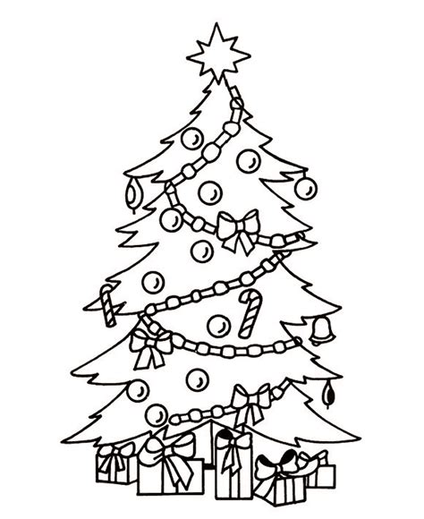 top   printable christmas tree coloring pages