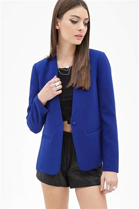 acheter veste de cuisine veste bleu électrique de forever 21