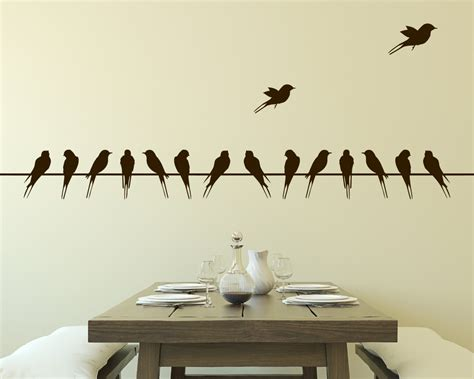 stickers muraux chambre wall decal birds on wire vinyl wall decal