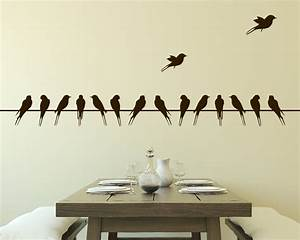 wall decal birds on wire vinyl wall decal With decoration stickers muraux adhesif