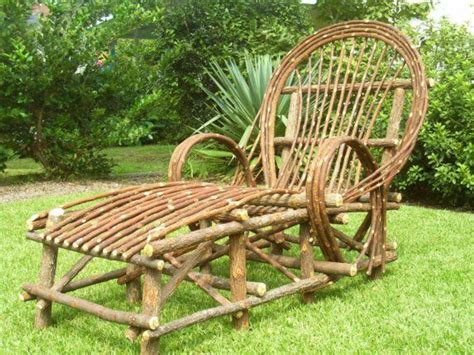 Chaise Lounge Chair Log Cabin Furniture Twig Native