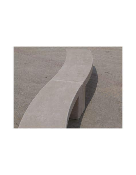 panchina cemento panchina curva in cemento per arredo urbano colore bianco
