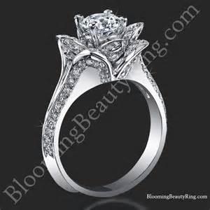 lotus flower wedding ring lotus ring 8 petal 1 00 ct band flower ring bbr588 unique engagement rings for