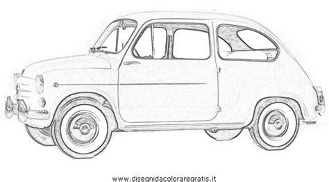 Fiat Panda Kleurplaat by Fiat 500 Blueprint Sketch Coloring Page