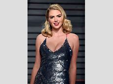 Kate Upton bares cleavage in a sequinned gown at the 2017