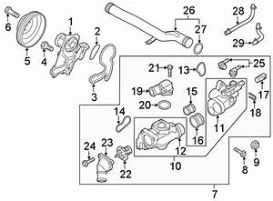 2011 Kia Sorento Engine Coolant Thermostat Housing Gasket  Front   Cooling  Lower  Assembly
