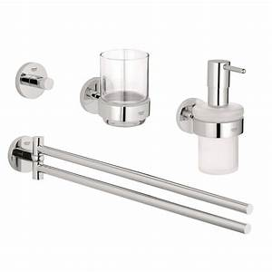 grohe essentials accessories 4 piece bath accessory set in With grove bathroom fittings