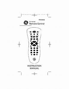 Ge Universal Remote Rm94906 User U0026 39 S Guide