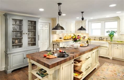 counter butcher block  kitchen island home decorating