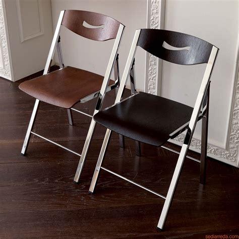 chaise en métal ripiego w chaise pliante moderne en métal et bois