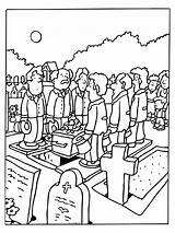 Funeral Coloring Pages Deceased sketch template