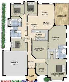 house plans with 4 bedrooms australian house plan 4 bedroom study lounge media room