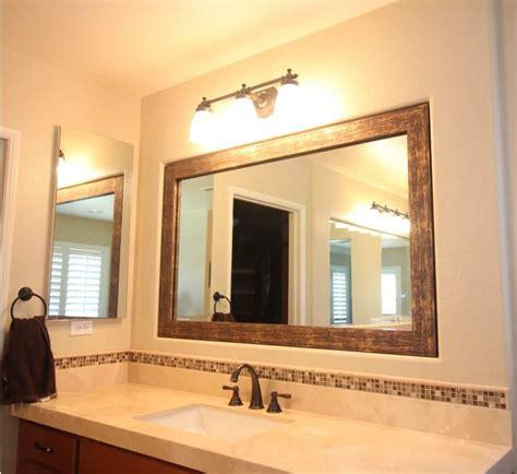 Framing An Existing Bathroom Mirror by Framing A Bathroom Mirror Tips To Improve Your Bathroom