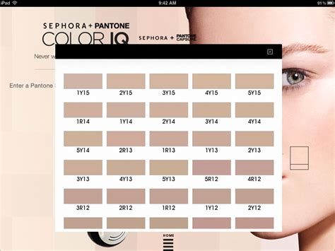color number finder get your match w sephora pantone color iq
