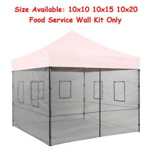 commercial food service mesh side walls  ez pop  canopy mosquito netting ebay