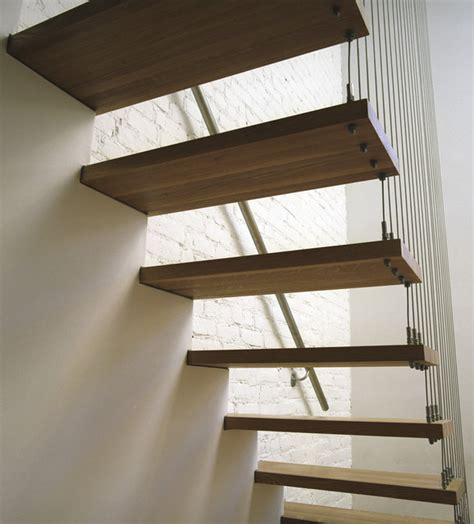 suspended staircase modern staircase  york