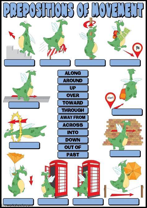 prepositions  movement english    language esl