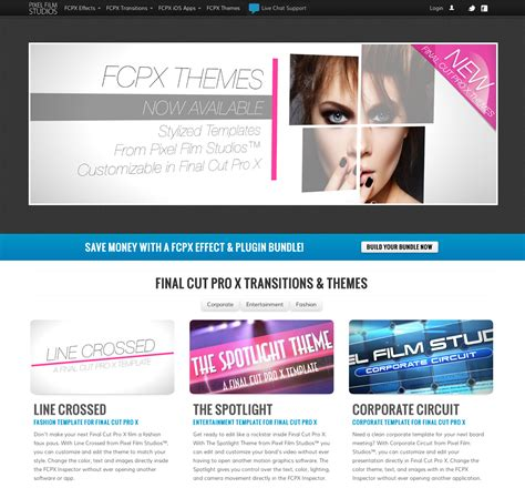 cut pro templates pixel studios announces new themes for cut pro x