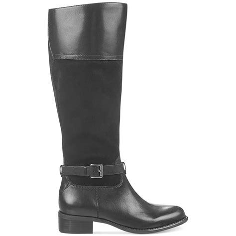 designer wide calf boots franco sarto corda wide calf boots in black lyst