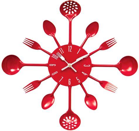 cutlery kitchen utensil wall clock spoon fork ladle clock