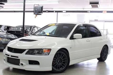 white mitsubishi lancer with black rims 2006 mitsubishi lancer evolution ix gsr rare wicked white
