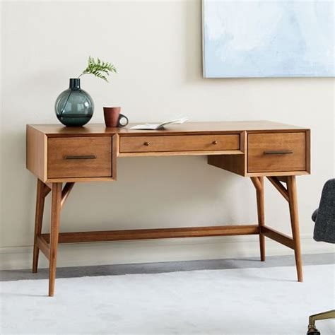 mid century desk mid century desk acorn west elm