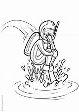 Scuba Diving Coloring Pages Printable Books sketch template