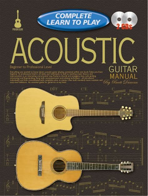 progressive complete learn  play acoustic guitar manual