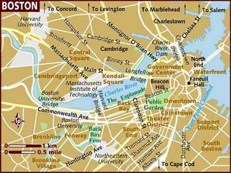 Large Boston Maps For Free Download And Print High
