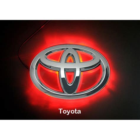 light up car emblems led car logo light for toyota 08camrys corolla