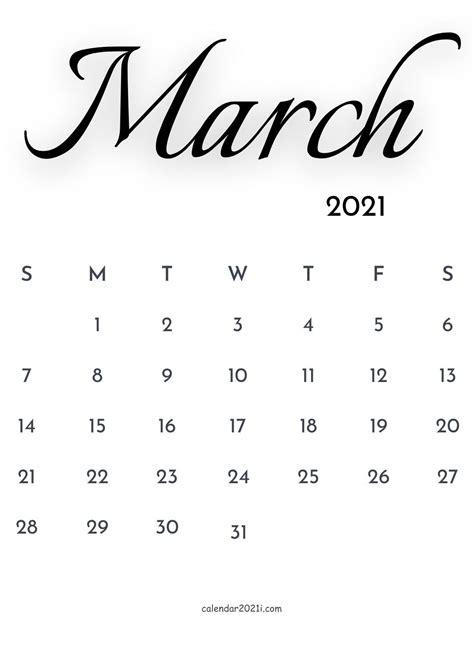 march  calendar printable floral holidays
