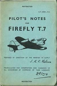 Fairey Firefly T 7 Aircraft Pilot U0026 39 S Notes Manual