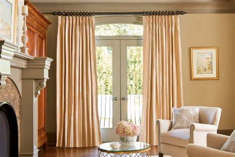 Patio Door Curtains For Traverse Rods by Great Curtain Rod Options For Patio Doors Designer Drapery