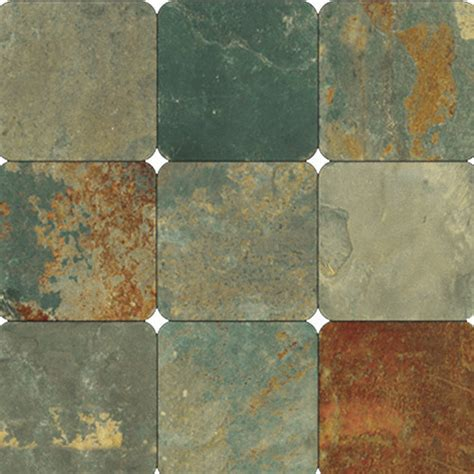 tumbled slate california gold slate 6x6 tumbled subway tile 1 sq ft 4 pcs transitional wall floor