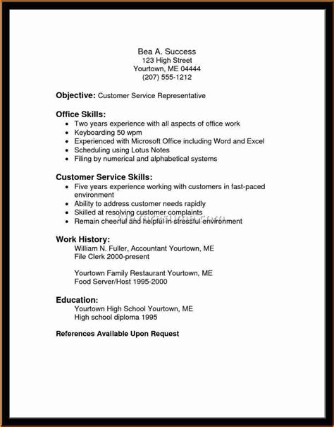 Functional Summary On Resume For Customer Service by 11 Functional Resume Customer Service Invoice Template