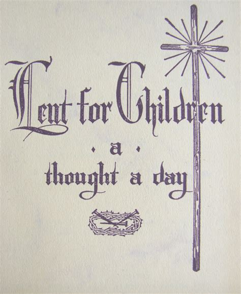 lent for children a thought a day family in feast and feria 684 | lent cover2