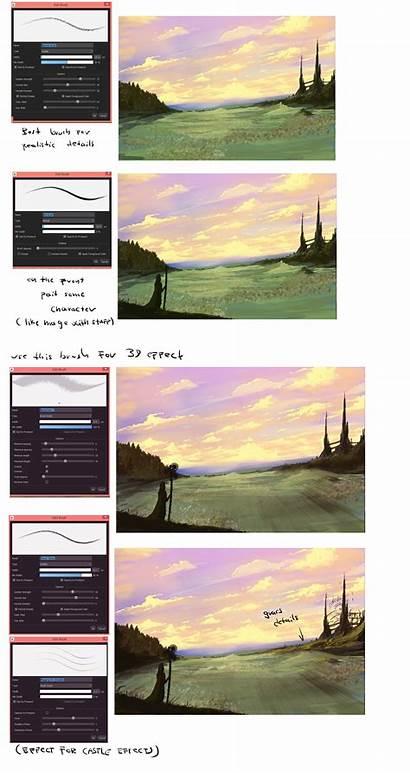 Tutorial Scenery Tutorials Ryky Medibang Paint