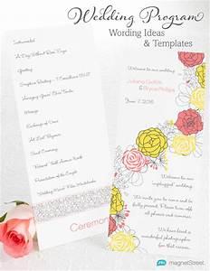 wedding program wording magnetstreet weddings With wedding reception program wording ideas