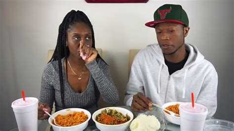 african food mukbang jollof rice egusi soup pounded yam