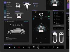 Tesla Model 3 UI Figma Kit Freebie Supply