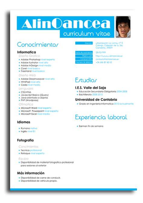 Formato De Resume by Modelo De Curriculum Vitae Formato Profesional Design Bild